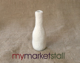 Felted Bottle in Winter White - Ready to Ship