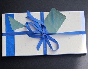 Blank Notecards, Notecard Set, Flat Notecards, Paste Paper Collage Note Cards, Blank Note Cards, Note Card Set, Flat Note Cards