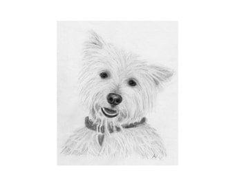 Pet Portrait, Custom Dog art, Sketch From Photo, Digital File, Personalized Pencil Sketch, Pet Memorial, Dog Drawing, DIY Printable, Inklets
