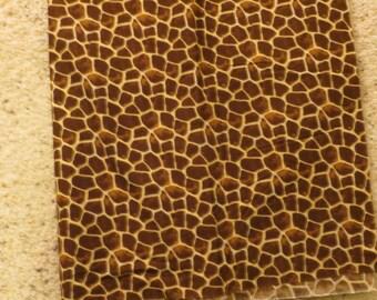 Giraffe skin minky backed EMIJANE Nursing pillow cover - fits Boppy