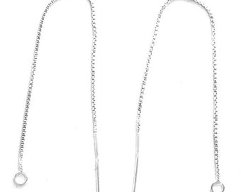 Pair 6 Inch EAR THREADER 925 Sterling Silver