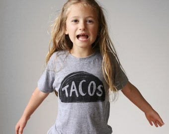 Kids Taco Shirt, toddler christmas gift for kids, funny tshirt boy gift girl gift, unisex tween gift, taco graphic tee, stocking stuffer