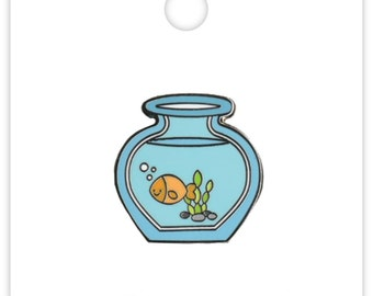 Goldie Gold Fish Collectible Pin (Limited Edition) Doodlebug Collection Kitten Smitten Enamel Pin (5308)