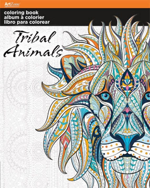 Tribal Animals Coloring Book Animals Colouring Book Art