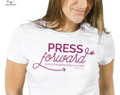 INSTANT DOWNLOAD - 2016 Theme Press Forward Logo - T shirt or sweatshirt design - Girls Camp or Youth Conference Shirt Design