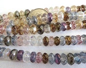 50 Mixed Luster Czech Fire Polished Rondelle Gemstone Donut Beads 7mm