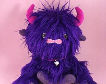 Plush Monster in Purple