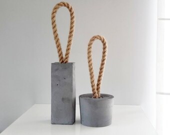 LOOP Concrete Door Stop - rectangle door stopper, concrete decoration