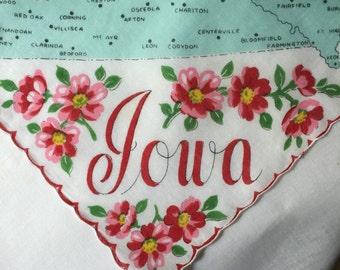 Vintage Iowa State Hanky - Hankie Handkerchief