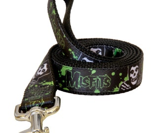 "Misfits ""Splatter Fiend"" Official Dog Leash - 1"" Width"