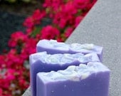 Calabrian Bergamot and Violet Cold Process Soap with Cruelty-Free Tussah Silk