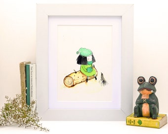 Stowaway Migrating I - Print - 6x8  - Nursery art - Nursery decor - Kids room decor - Children's art - Children's wall art - kids wall art