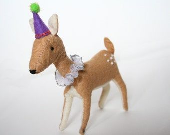 Handmade Fawn/Deer Cake Topper Party Decoration