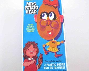 Vintage 1970's Mrs. Potato Head by Hasbro in Original Box