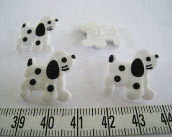 24 pcs of Spotty Dog Button - Black and White Spot LAST SET
