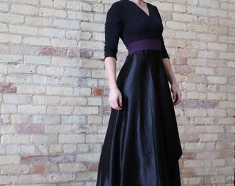 Full Length Silk Wrap Dress with Sleeves Made from Organic Cotton, Bamboo, Silk, & Hemp