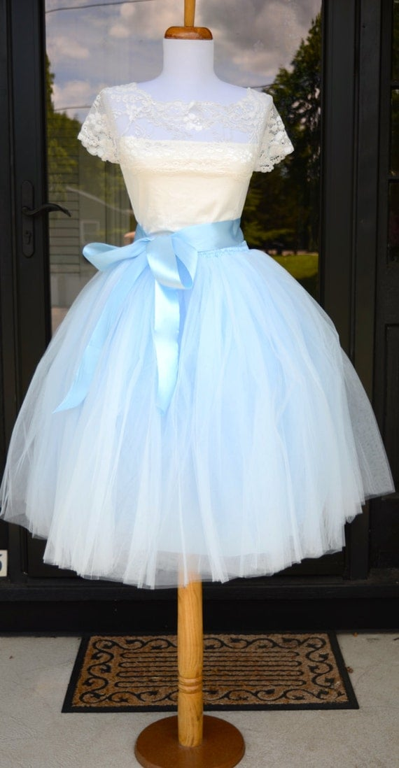 blue tutu soft baby blue tulle skirt light blue