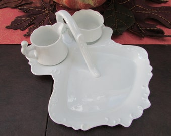 VINTAGE- Strawberry Server with sugar and creamer