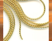 10 feet of gold plate over brass snake chain