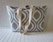 CUSTOM ORDER - Large tote (not extra large) - Emily Gray with zipper