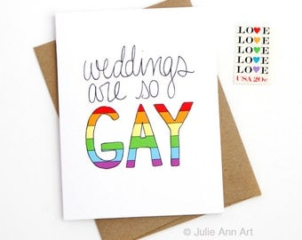 SALE - Gay Wedding Card - Lesbian Wedding Card
