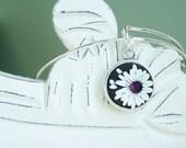 Unique Bridesmaid Gifts - February Birthstone Adjustable Bangle Bracelet -  Alex & Ani Inspired Style #2