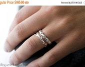 Valentines Day Sale Moissanite Branch and Twig Ring Set | Stacking Set | Nature Inspired Rings