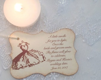 Bridal Shower Candle Favor Tags Wedding Shower Tags Set of 10