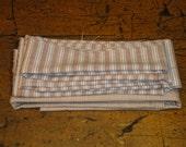 Homespun Material   Primitive Material   Cotton Material   Scrap Material Bundle