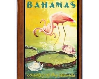 BAHAMAS 1- Handmade Leather Photo Album - Travel Art