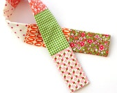 Pink and Orange Patchwork Camera Strap Cover
