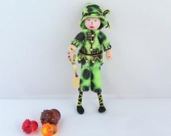 Halloween felt art doll hanging ornament Trick-or-treat boy