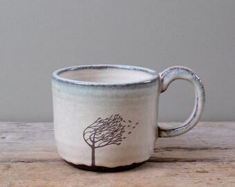 Blue Windy Tree Mug
