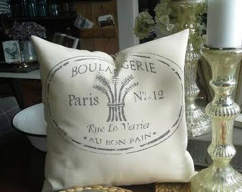 French Boulangerie Pillow