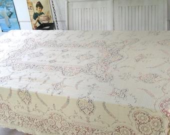 quaker dinner cloth . quaker lace tablecloth . Lace Tablecloth . Quaker Lace Cloth . cream Quaker Lace Tablecloth . quaker lace