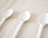 porcelain spoon.