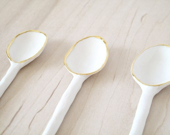 porcelain spoon.
