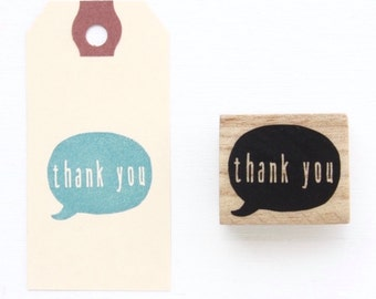 Rubber Stamp - Thank You Bubble Speech