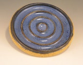 Pottery Soap Dishes in Blue and Brown - All of them look just a bit different so you take a look at all of them  order which one you want.