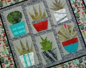 Cacti and Friends Foundation Pieced Quilt from Quilts by Elena