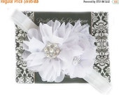 SALE Christening Headband - White Baby Baptism Headband - Baby Girl Blessing Headband .... White Headband with Pearls