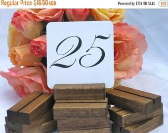 Rustic Wedding Wood Table Number Holders- Set of 10