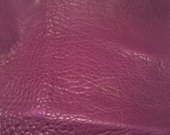 ON SALE EGGPLANT Purple Bubbled Lambskin Leather Hide Piece #3