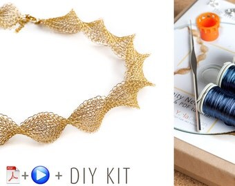 Infinity Wire Crochet Necklace - DIY KIT
