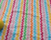 Saved For Sam swimwear Fabric Remnant Chevron Rainbow Lycra Spandex