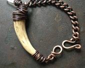 Real Deer Antler Bracelet Wire Wrapped Bracelet Rustic Jewelry A Game of Thrones Jewelry  Deer Antler Jewelry DanielleRoseBean