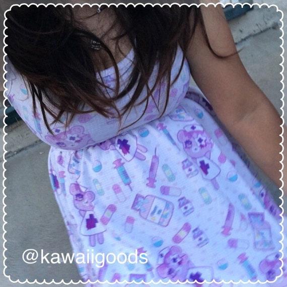 Nurse Bear Menhera Dress, Nurse Dress, Menhera Dress, Pill Dress