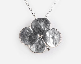 Loved To Death Sterling Dipped Four Leaf Clover Necklace