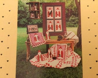 Father Christmas #117 Doll, Ornaments, Santa and Quilt Pattern. uncut, Home Decoration