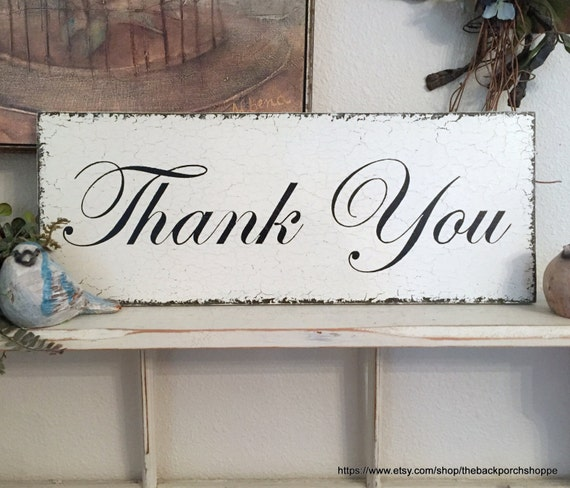 THANK YOU Sign, Wedding Sign, Mr. and Mrs. Sign, Bride and Groom Sign, Wood Wedding Signs | 7 x 18
